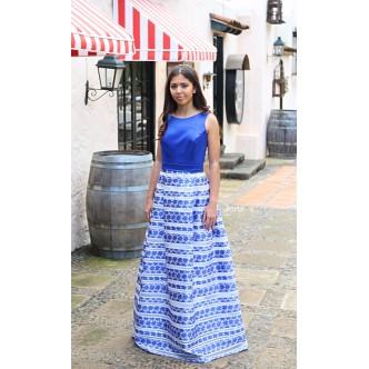 Vestido Margarita Azul