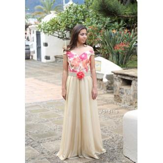 Vestido Seda Dorado