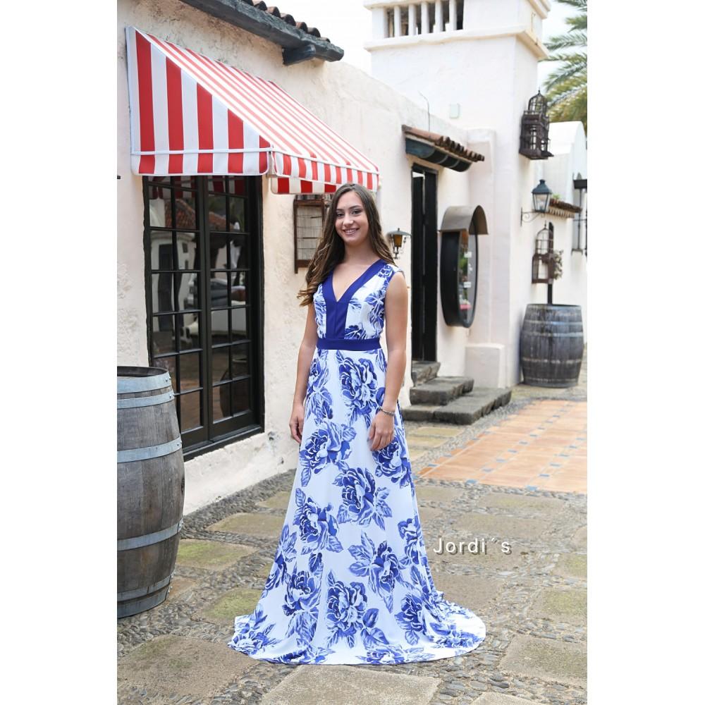 Vestido Flor Azul