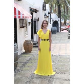 Vestido Amarillo Gasa