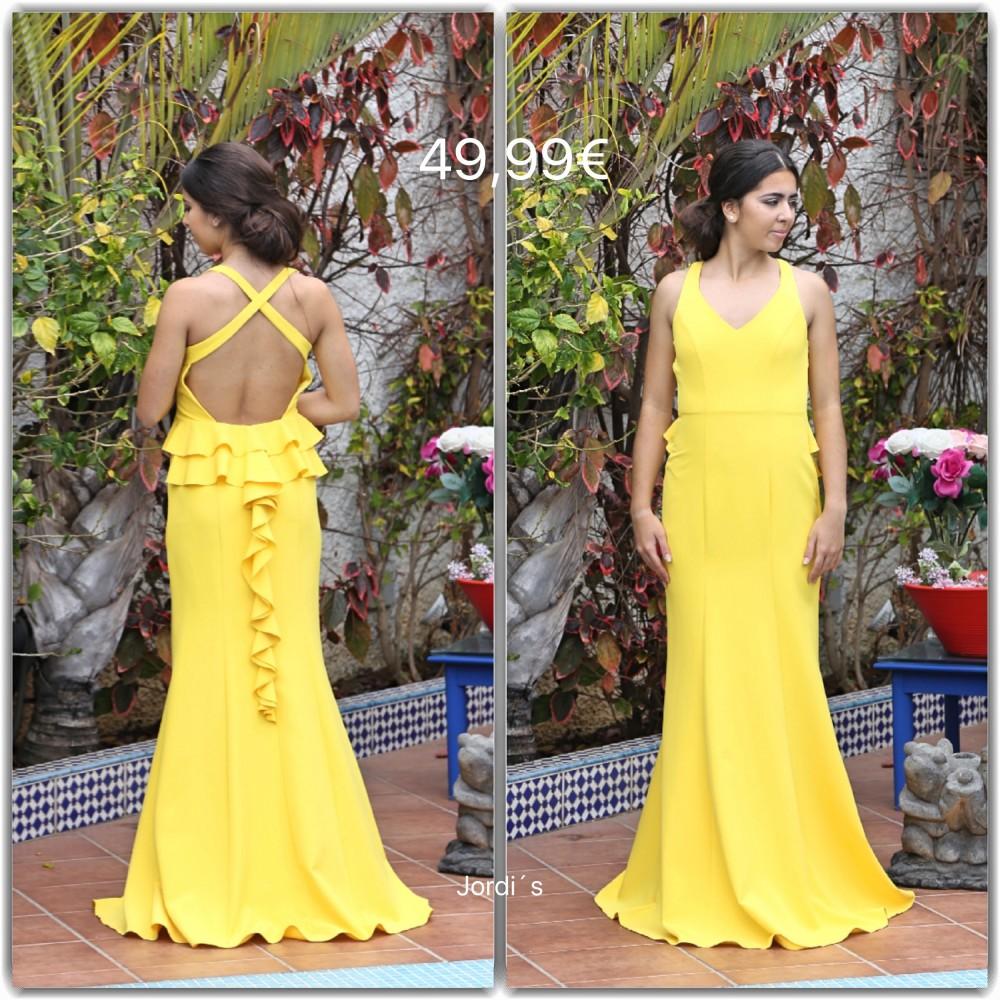 Vestido Amarillo Cruzado