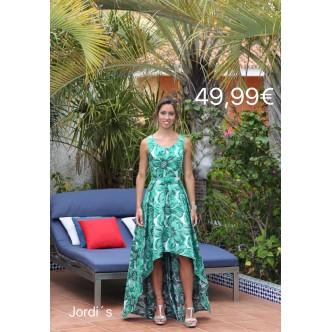 Vestido Verde Asimétrico