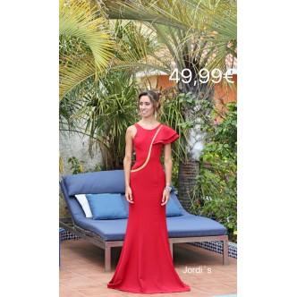 Vestido Rojo Volante