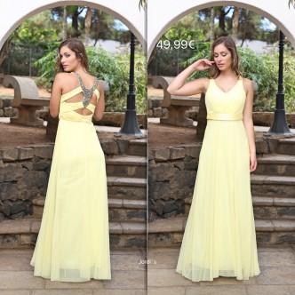 Vestido Amarillo Claro