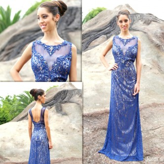 Vestido Azul Blonda