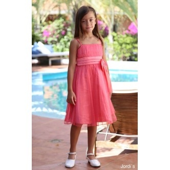 Vestido Coral Purpurina