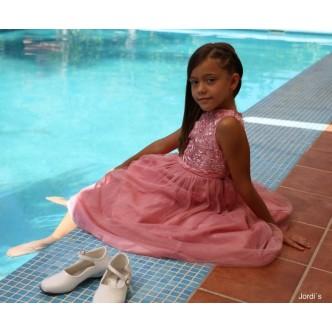 Vestido Dasty-Rose Falda Purpurina