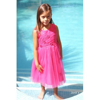 Vestido niña Fucsia floritas